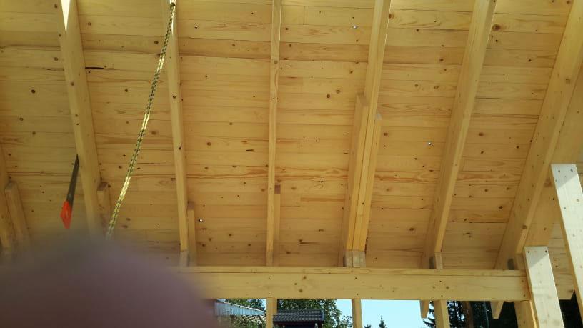 Medinių konstrukcijų įrengimas