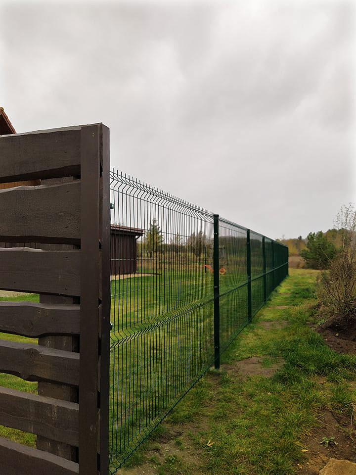 Tinklinės tvoros įrengimas